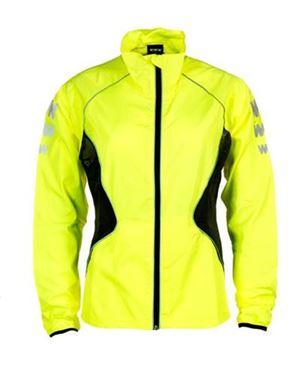 Picture of Wowow Dark Jacket 2.0 Dames Hardloopjack Geel XS