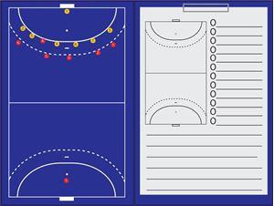 Afbeelding van Magnetische coachmap met klip en schrijfblok Zaalhockey