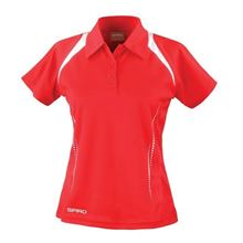 Picture of Dames team polo Spirit Red - White