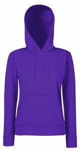 Afbeelding van Fruit of the Loom Classic Lady-fit Hooded Sweat Purple