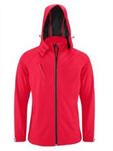 Picture of Hooded Softshell Kariban Mannen Rood
