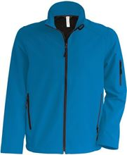 Picture of Heren Softshell Jas Kariban Aqua Blue