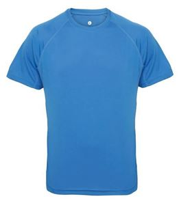 Afbeelding van Men's panelled TriDri T-shirt Sapphire Blue