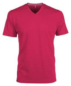 Afbeelding van Heren T-Shirt V Hals Fuchsia
