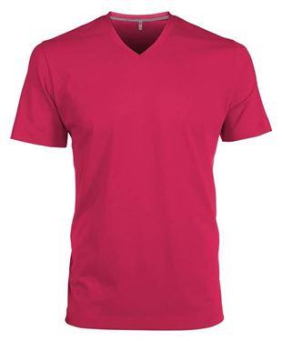 Picture of Heren T-Shirt V Hals Fuchsia