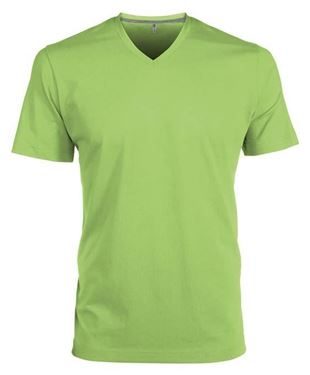 Picture of Heren T-Shirt V Hals Lime