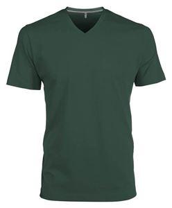 Afbeelding van Heren T-Shirt V Hals Donkergroen