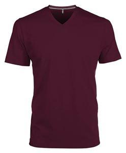 Afbeelding van Heren T-Shirt V Hals Wine