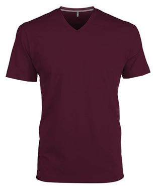 Picture of Heren T-Shirt V Hals Wine