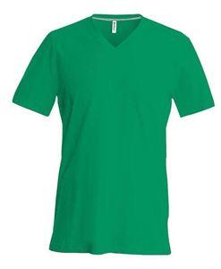 Afbeelding van Heren T-Shirt V Hals Groen