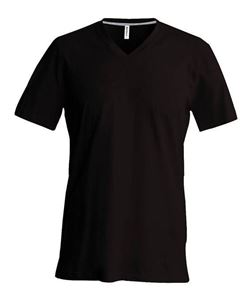 Afbeelding van Heren T-Shirt V Hals Chocolate