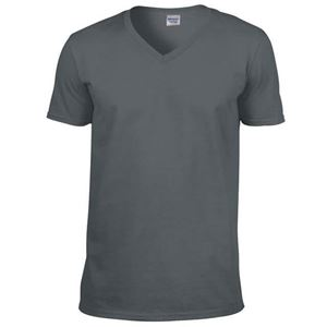 Afbeelding van Softstyle Mens V-Neck T-shirt Gildan Charcoal