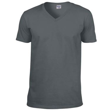 Picture of Softstyle Mens V-Neck T-shirt Gildan Charcoal