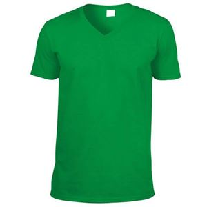 Afbeelding van Softstyle Mens V-Neck T-shirt Gildan Irish Green