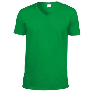 Picture of Softstyle Mens V-Neck T-shirt Gildan Irish Green
