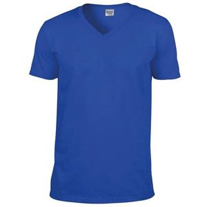 Afbeelding van Softstyle Mens V-Neck T-shirt Gildan Royal Blue