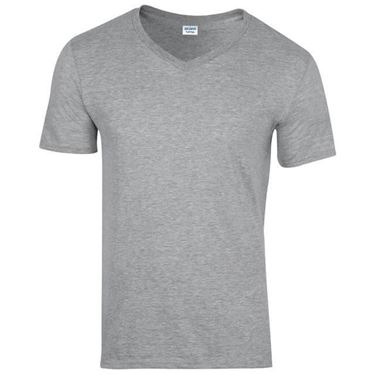 Picture of Softstyle Mens V-Neck T-shirt Gildan Sport Grey