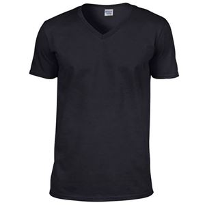 Afbeelding van Softstyle Mens V-Neck T-shirt Gildan Black