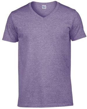 Picture of Softstyle Mens V-Neck T-shirt Gildan Heather Purple