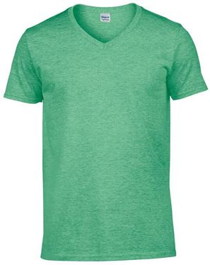 Picture of Softstyle Mens V-Neck T-shirt Gildan Heather Irish Green