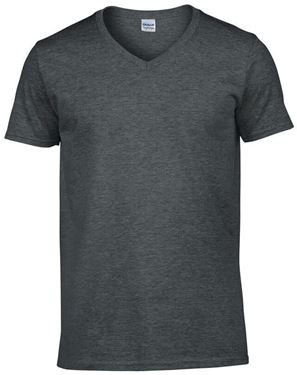 Picture of Softstyle Mens V-Neck T-shirt Gildan Dark Heather