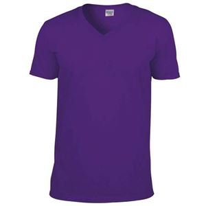 Afbeelding van Softstyle Mens V-Neck T-shirt Gildan Purple