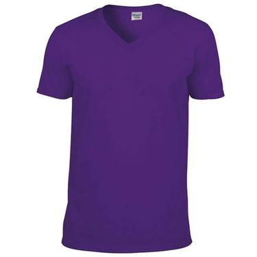 Picture of Softstyle Mens V-Neck T-shirt Gildan Purple