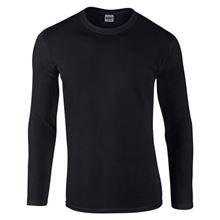 Picture of Gildan Softstyle long sleeve t-shirt Zwart