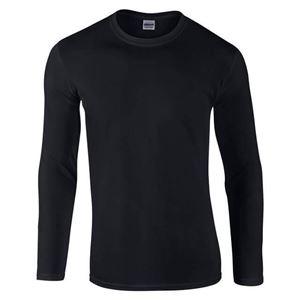 Afbeelding van Gildan Softstyle long sleeve t-shirt Zwart