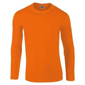 Afbeelding van Gildan Softstyle long sleeve t-shirt Oranje