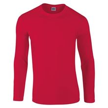 Picture of Gildan Softstyle long sleeve t-shirt Rood