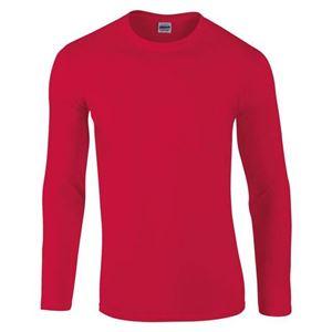 Afbeelding van Gildan Softstyle long sleeve t-shirt Rood