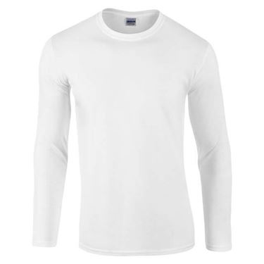 Picture of Gildan Softstyle long sleeve t-shirt Wit