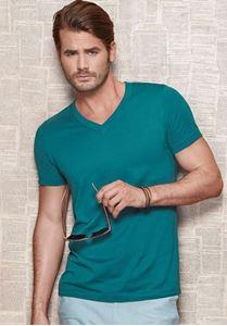 Afbeelding van James - Organisch T-shirt met V-Hals voor mannen