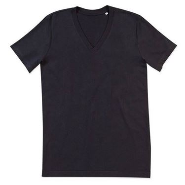 Picture of James Organic V-Neck Black Opal