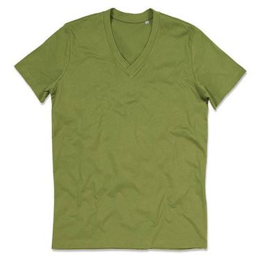 Picture of James Organic V-Neck Earth Green