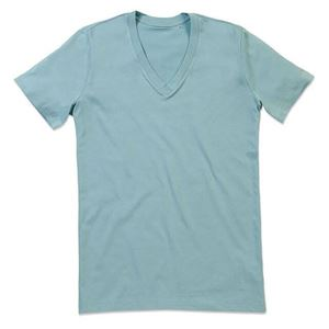 Afbeelding van James Organic V-Neck Frosted Blue