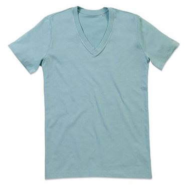 Picture of James Organic V-Neck Frosted Blue