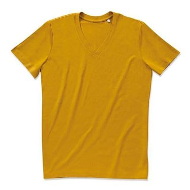 Picture of James Organic V-Neck Indian Yellow