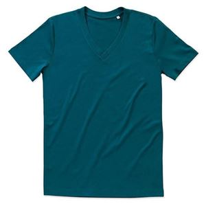 Afbeelding van James Organic V-Neck Pacific Blue