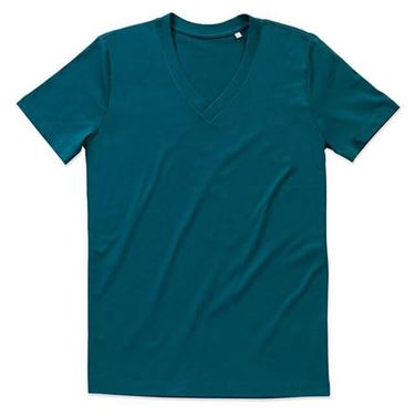 Picture of James Organic V-Neck Pacific Blue