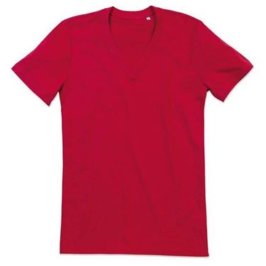 Picture of James Organic V-Neck Pepper Red