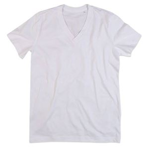Afbeelding van James Organic V-Neck White