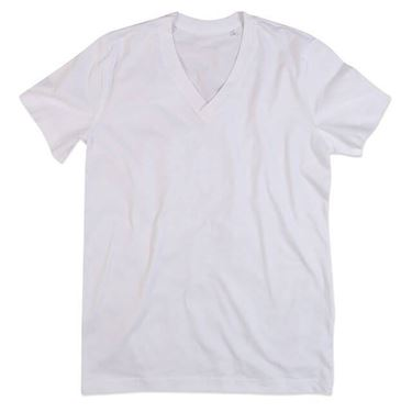 Picture of James Organic V-Neck White