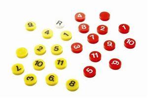Afbeelding van Grote Reserve Magneten met nummers
