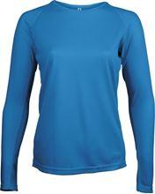 Picture of Dames Sport T-shirt lange mouw Proact Aqua Blauw