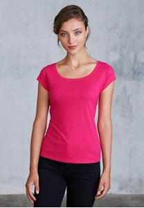 Afbeelding van Dames-T-shirt korte mouwen met boothals Kariban
