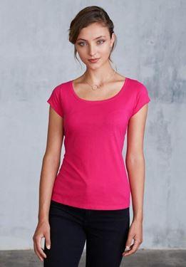 Dames-T-shirt korte mouwen met boothals Kariban