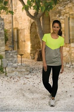 Picture of L&S Contrast Sports T-shirt for her