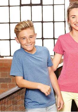 Boys V Neck HD T-Shirt Russell